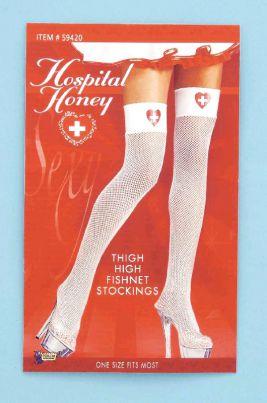 0076638b7 Home   Costume Accessories   Hosiery   Thigh High   Nurse stockings Fishnet